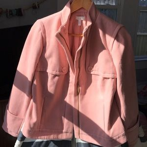 Champagne Pink Winter Moto Jacket M/L